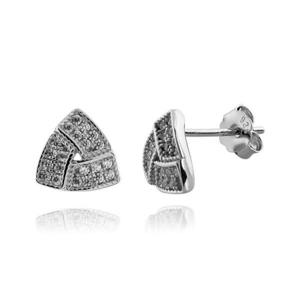 Náušnice stříbrné kamenové 925/1000 puzeta šroubek