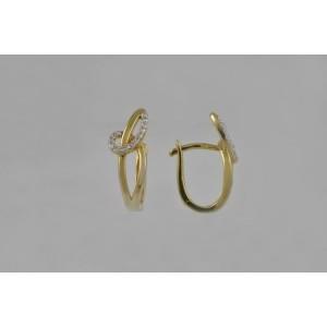 Náušnice žluté zlato 585/1000 kamenové francie