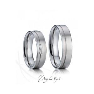 Prsten ocelový snubní
