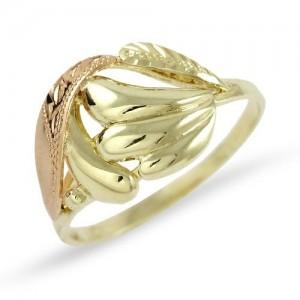 Prsten žluté zlato 585/1000 celozlatý