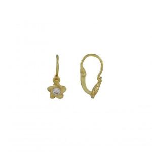 Náušnice žluté zlato 585/1000 kamenové dětské