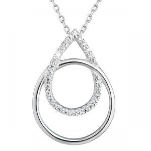 Náhrdelník bílé zlato  585/1000 diamantový